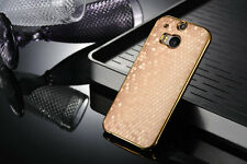 For HTC One M8  Gold Aluminium Case Cover