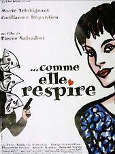 Affiche 40x60cm COMME ELLE RESPIRE 1997 Marie Trintignant, Guillaume Depardieu