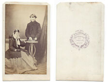 CDV Rev & Mrs Septimus Wood of West Keal Carte de Visite by Jenkinson of Bawtry