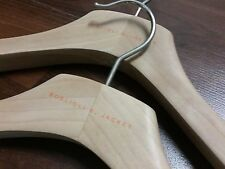 """Set of 2 Boglioli K Jacket Natural Wood Blazer Hanger 43m 17"""""""