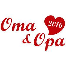 Auto Aufkleber Oma und Opa 2016 in Wunschfarbe / Folie (Farbe nach Kauf mailen!)