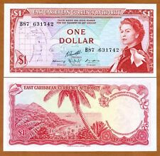 Eastern East Caribbean, $1 ND (1965) P-13g, Young QEII, UNC