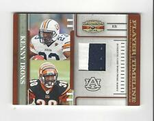 2007 Gridiron Gear Player Timeline Kenny Irons PATCH Bengals Auburn /50