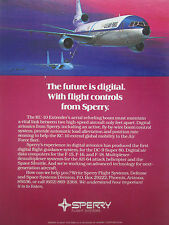3/1981 PUB SPERRY FLIGHT SYSTEMS KC-10 EXTENDER US AIR FORCE F-15 ORIGINAL AD