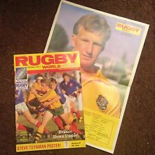 RUGBY WORLD MAGAZINE SEPTEMBER 1986 - Super Condition Also Contains Poster