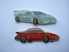 PORSCHE 911 TURBO LAMBORGHINI COUNTACH DIABLO VINTAGE SPORTS CAR PIN BADGE 99p