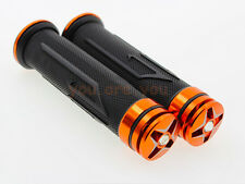 "Orange 7/8"" Handlebar End Rubber Hand Grips For KTM 390 Duke/RC 390 200 125 250"