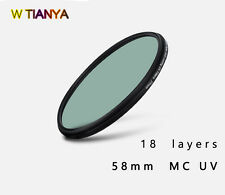 W TIANYA XS-Pro 1D 58mm MC UV filter,18 layers of coating camera MC UV filter