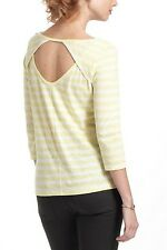 ANTHROPOLOGIE Pure Good Striped Cut Back Scoopneck Tee Shirt NwT Large