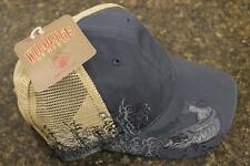 NEW Dri Duck Wildlife Series Mesh Cap Northern Pike Embroidery Dusk Blue 3079DSK