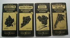 4  American Map Company Map's Of The 5 Boro's New York City  1940's