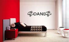 BOYS NAME BASKETBALL DECAL WALL VINYL STICKER DECOR STICKER BEDROOM WALL DECAL