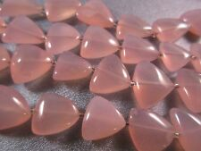 Pink Chalcedony Triangle Beads 11pcs