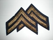 US ARMY WWII CORPORAL STRIPES RANK - ORIGINAL ON WOOL -- 1 PAIR