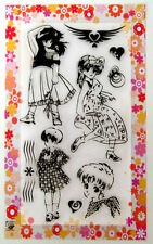 Modern style ~ Anime girl ~ clear stamps set vintage FLONZ 151 rubber acrylic