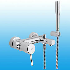 GROHE Concetto Wannen Armatur Wandmontage, mit Brauseset Badearmatur 32212