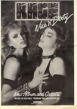 26/6/1982Pg37 Album Advert 15x10 Rage, Nice 'n' Dirty