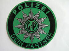 Aufkleber Hinterglas Polizei Dein Partner Police Sticker  weltweiter Versand 03