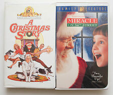 2 Christmas VHS Tapes - A Christmas Story, and Miracle on 34th Street