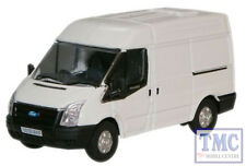 76FT001 Oxford Diecast OO Gauge Frozen White New Ford Transit Van M.Roof