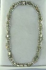 VINTAGE KRAMER OF NEW YORK TWISTY RHINESTONE CHOKER NECKLACE