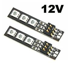 2x RGB 5050 LED Lights Board 7 Color 12V w/DIP Switch for QAV250 F450 Quadcopter
