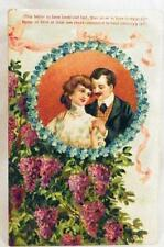 Vintage Lovers Postcard Post Card Tis Better To Have Loved & Lost Man Woman