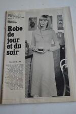 """"""" MODES de PARIS """" PATRON SUPPL. DU N°1468 // ROBE DE JOUR & SOIR T46 A 50"""