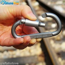 CL Mini Stainless Steel Carabiner Snap Spring Clips Hook Keychain EDC Survival