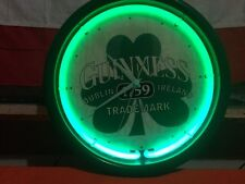 ST.PATRICKS DAY SPECIAL!!!GUINNESS NEON WALL CLOCK WORKS!!!VERY NICE GIFT