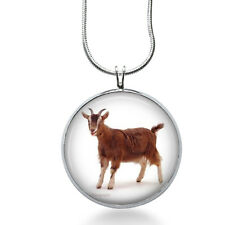 Goat Necklace - Animal Jewelry - Farm Pendant