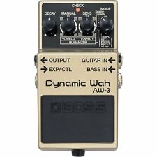 BOSS AW-3 Dynamic Wah Tempo Control Expression Guitar Bass FX Stompbox Pedal