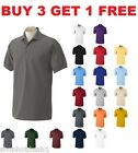 Men's Solid Polo Short Sleeve Shirt Pique Casual Cotton Top New Size M L XL XXL