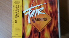 FAIR WARNING s/t CD JAPAN 1ST PRESS WMC5-518 w OBI Tommy Heart V2 s776