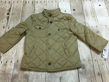 RALPH LAUREN POLO KHAKI QUILTED JACKET BOYS SIZE 4T NEW WITH TAGS
