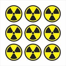 Radiation Radioactive Nuclear Symbol Sheet of 9 - Window Bumper Sticker BS506012