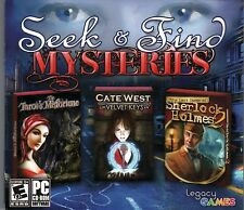 LOST CASES OF SHERLOCK HOLMES VOL 2 Hidden Object 3 PACK PC Game CD-ROM NEW