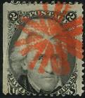 85B, Fine - RED CIRCLE OF V's FANCY CANCEL Cat $1500+