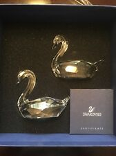 SWAROVSKI, FLIRTING SWANS, #837154, RETIRED, NEW, MINT IN BOX