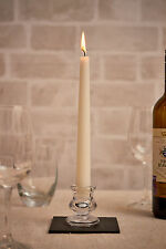 2x Vintage Glass Dinner Table Taper Candle Stick Candlesticks Holders (Pair)