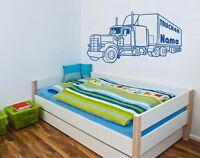 """Wandtattoo Kinderzimmer """"Truck"""" mit Wunschname Motiv 2"""