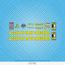 Cannondale F500 bicyclette decals-transfers-autocollants-jaune - lot 0719