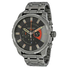 Diesel Stronghold Chronograph Grey Dial Grey Ion-plated Mens Watch DZ4348