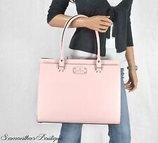 NWT KATE SPADE LIGHT PINK LEATHER SATCHEL SHOULDER BAG TOTE HANDBAG PURSE