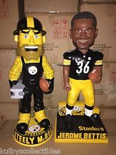 "STEELY McBEAM & JEROME BETTIS Steelers 3'H Bobble Head 36""H Set of 2 New Limited"