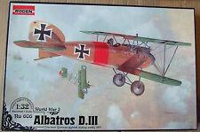RODEN 1/32 ALBATROS D.III WWI plastic model fighter aircraft kit *NEW*
