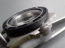 THE.ATLAS.ONE IN BLACK CUSTOM ST.STEEL ROTATING BEZEL FOR BOCTOK VOSTOK  DW-01-B