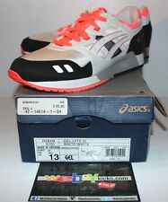 Asics Gel Lite 3 III White Black Infrared H2B4N Sneakers Mens Size 13 Brand New