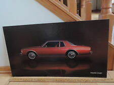 IMPALA COUPE RED CAR TWO DOOR Chevy Chevrolet Dealership Showroom Sign Poster
