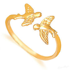 Yellow Gold Filled 14k Ring Love Doves Warranty Adjustable Wrap Artisan Unusual